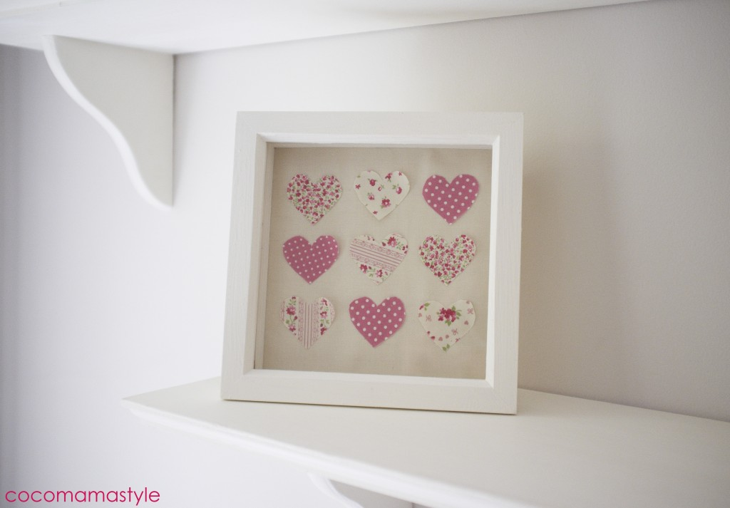 framed hand made heart picture by cocomamastyle