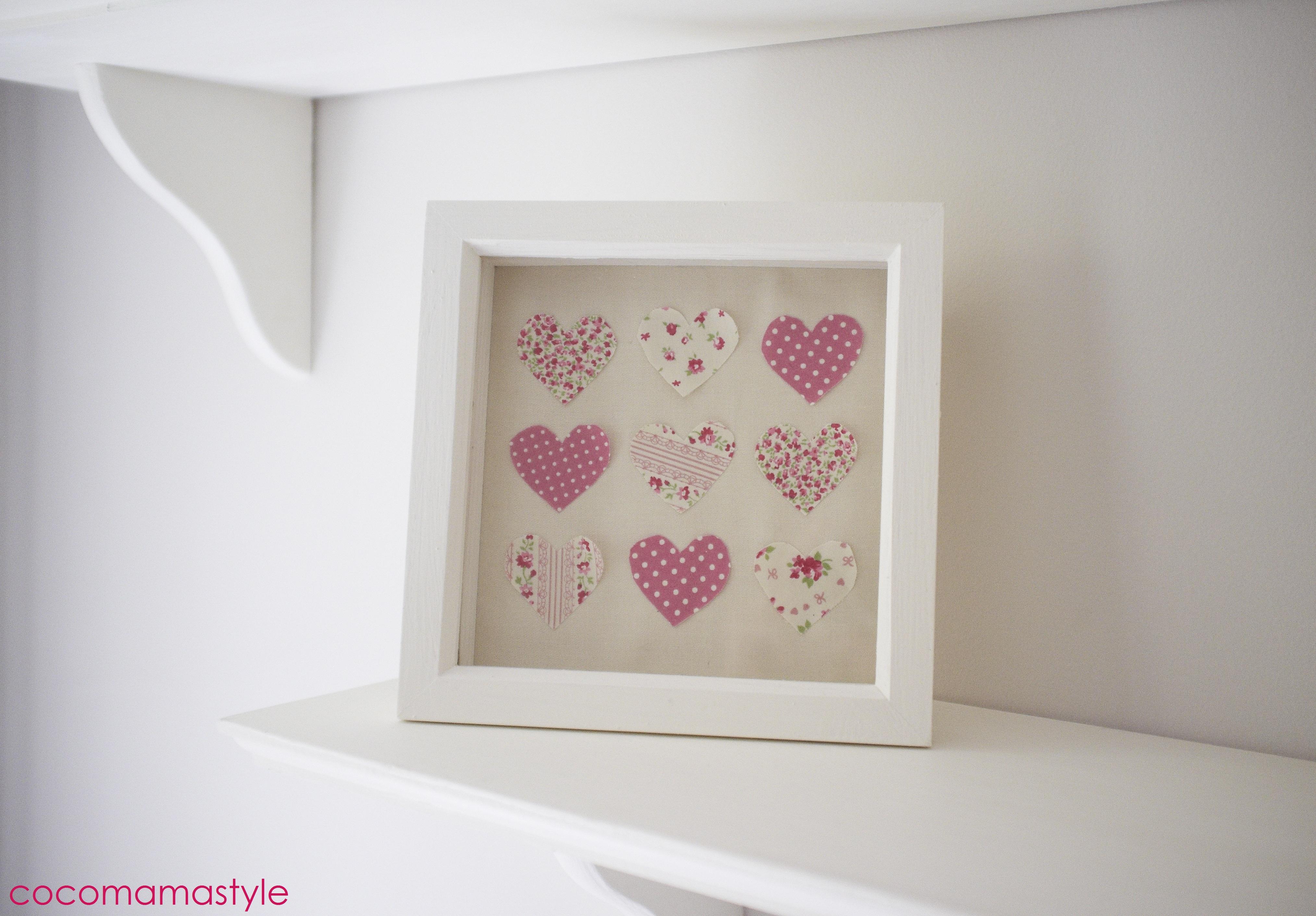 mama makes... framed hearts - coco mama style