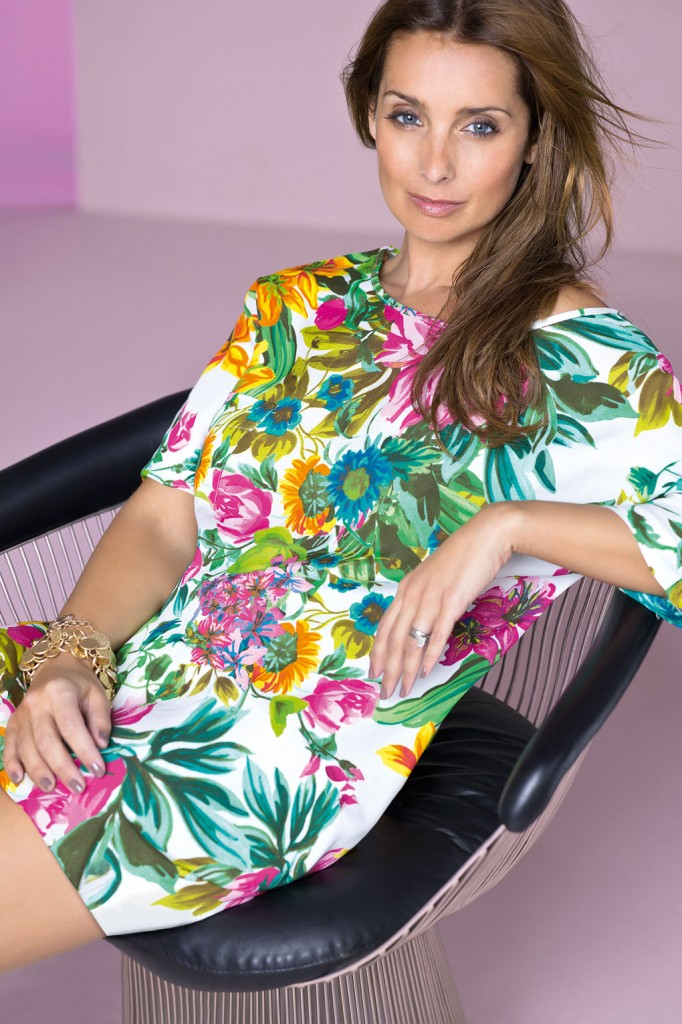 Steal her style: Louise Redknapp is totally tropical