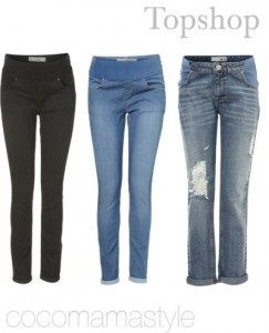 Tamzin's top store for maternity jeans. A wide range of styles and colours to suit your shape.