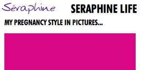 as seen in - seraphine preg style