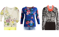 Floral cardigans: fun not frump