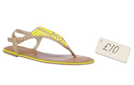 Quick fix under £50 | The £10 neon stitch sandals