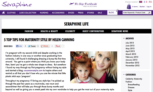 Seraphine life blog | Top maternity style tips | cocomamastyle
