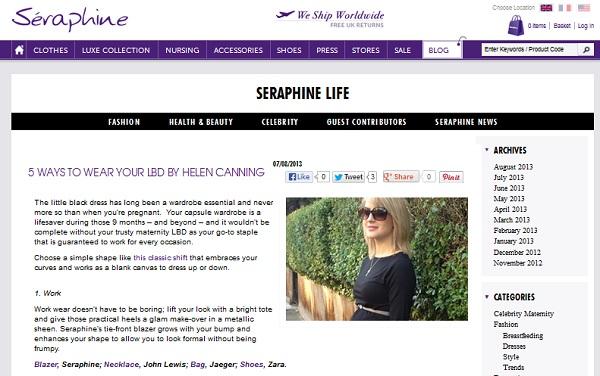 Seraphine life blog aug2013