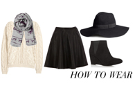 How to wear | The leather skater skirt