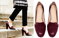 Flats vs. heels | The burgundy patent debate