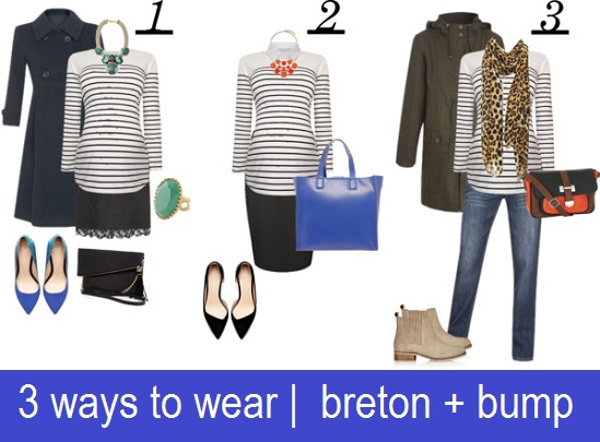 cocomamastyle | 3 ways to wear a maternity breton