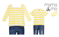 mama and me | petit bateauyellow stripe