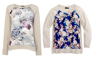 spree steal floral sweater