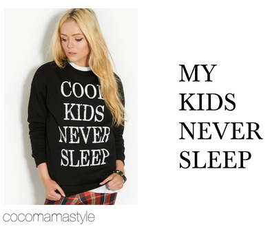 slogan tees - cool kids never sleep