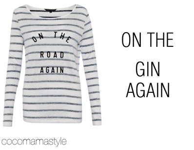 slogan tees - on the road again