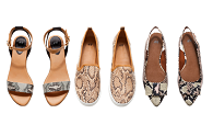 neutral snake print shoes