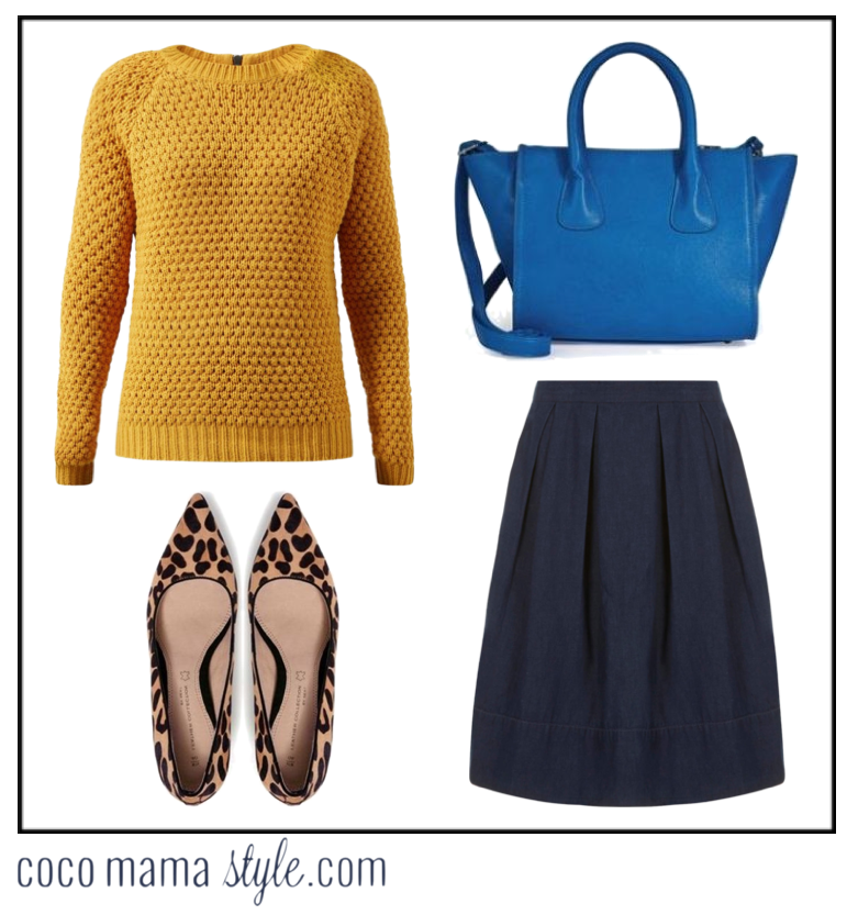 coco mama style | mama and me | mini me style | mustard knit and denim | mama