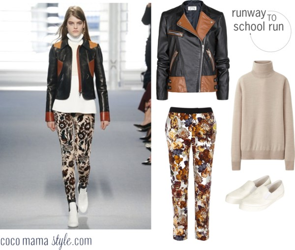Runway to school run | Louis Vuitton leather and florals