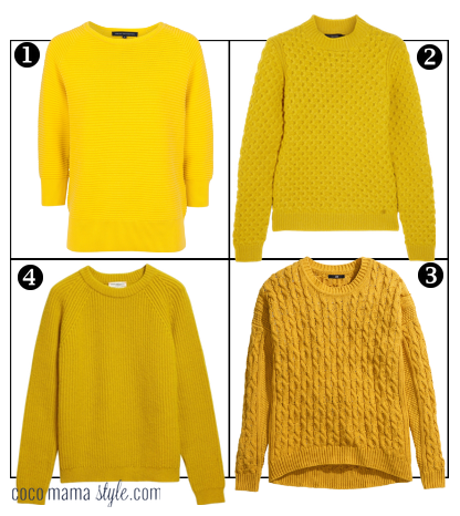 textured yellow jumpers sweaters | cocomamastyle