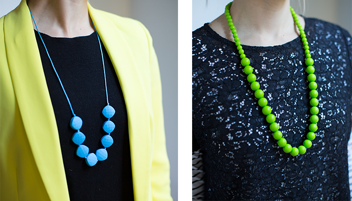 mama and belle teething necklace Brights
