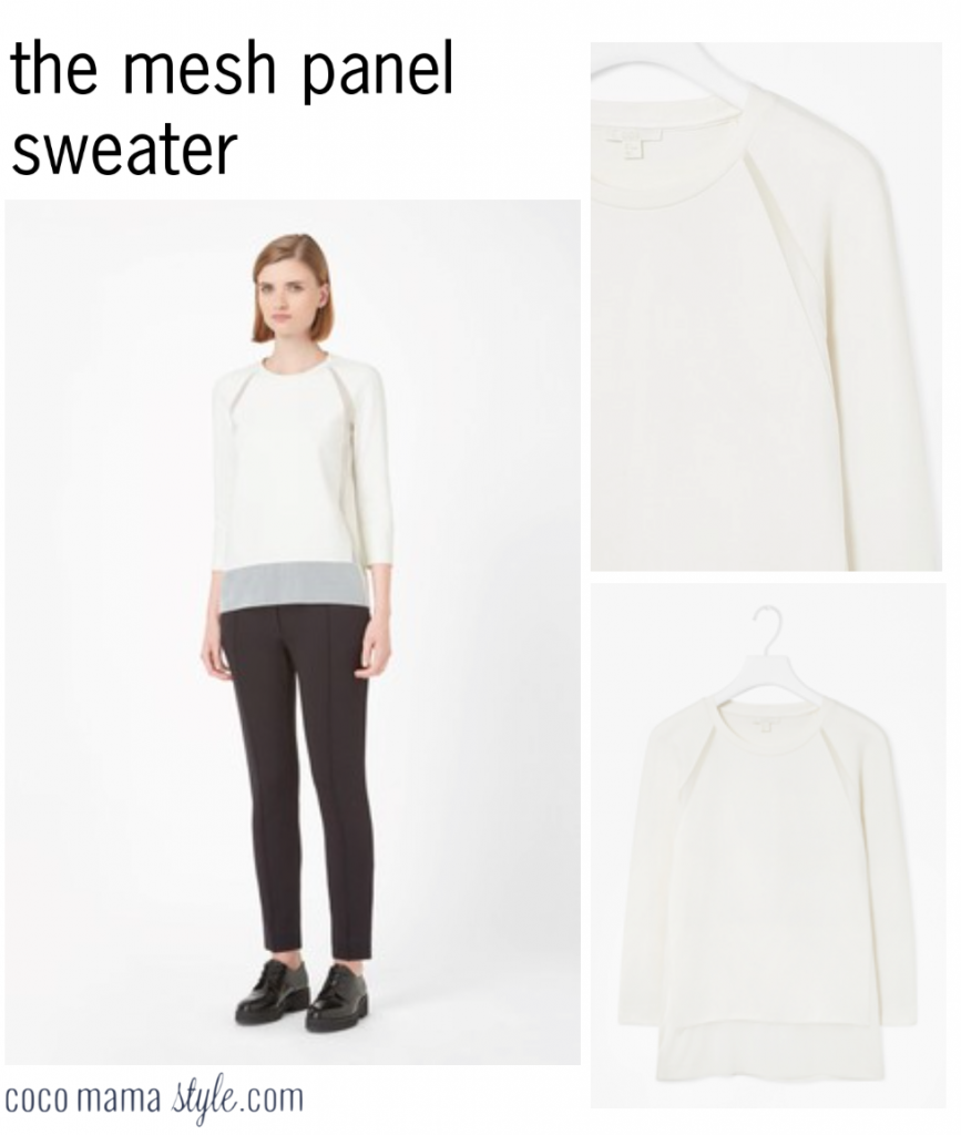 mesh panel sweater cos cocomamastyle