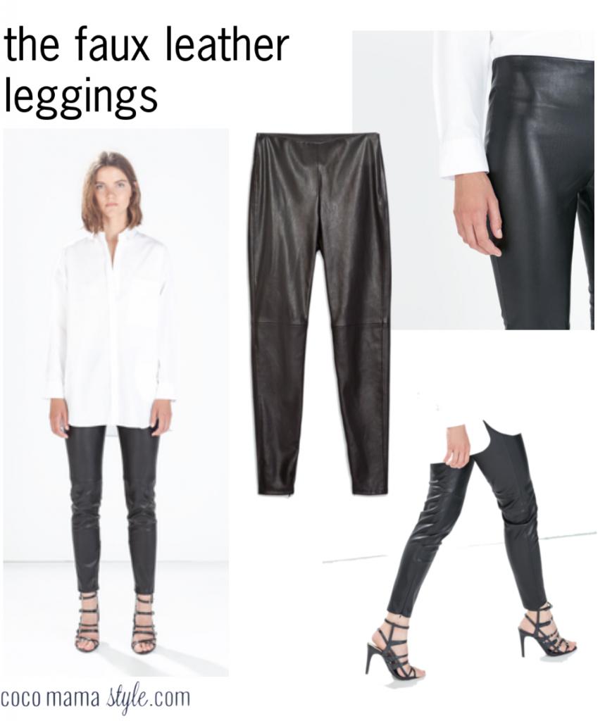zara faux leather leggings cocomamastyle