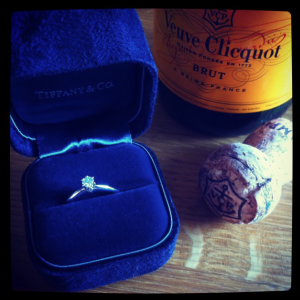 cocomamastyle | engagement | champagne | tiffany & Co ring