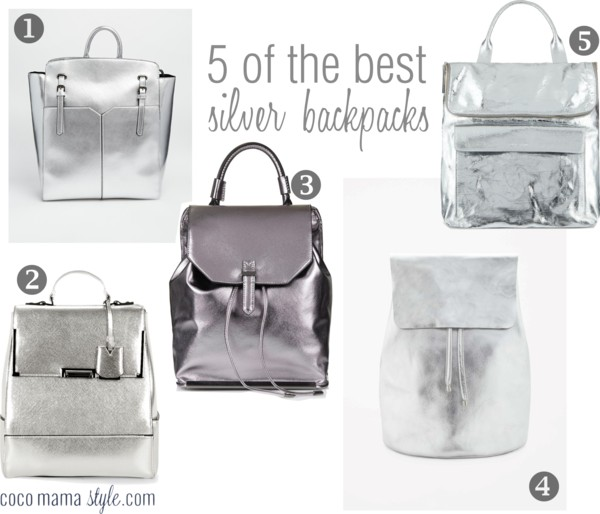 silver backpacks | cocomamastyle