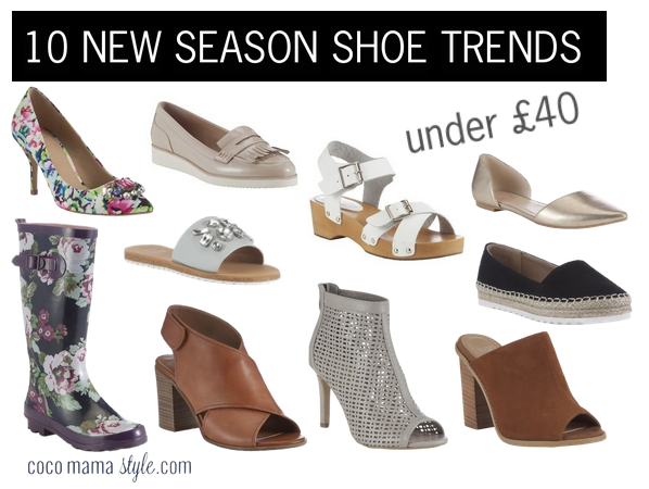 10 new season shoe trends under £40 2