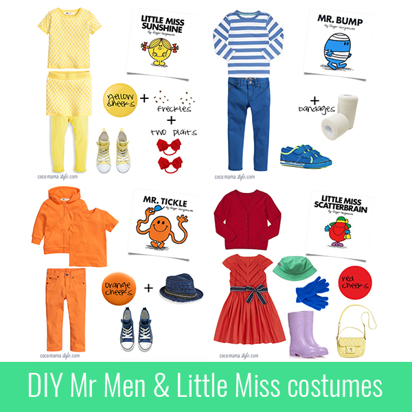 5 easy mr men and little miss costumes for world book day