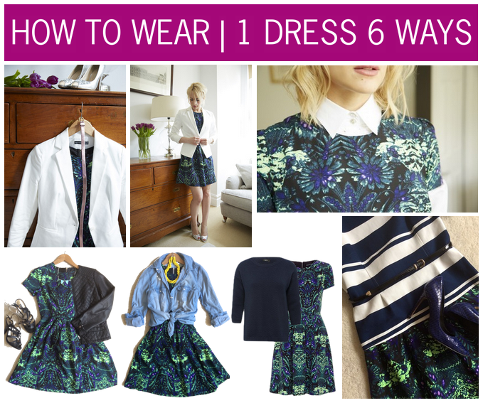 How to wear | 1 dress 6 ways