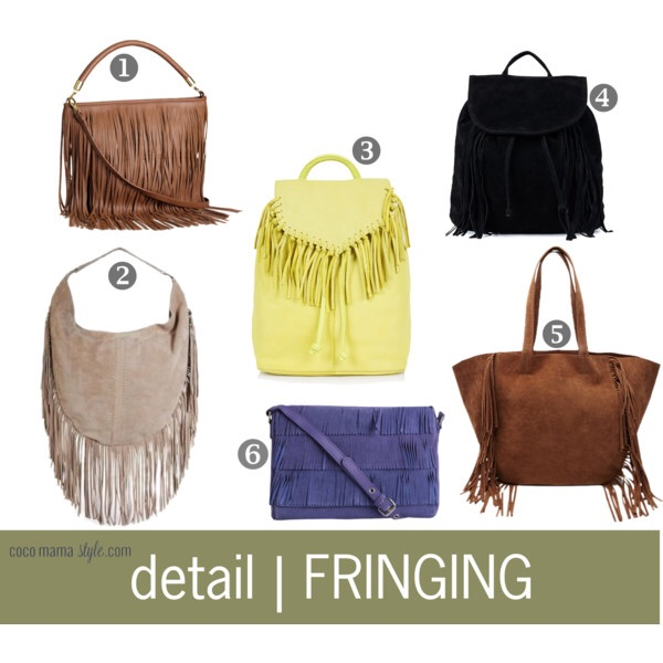 Detail | Fringed bags