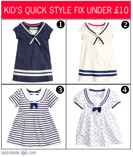 H&M sailor dress | nautical | cocomamastyle | kids quick style fix under £10