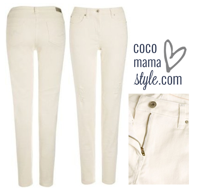 White relaxed skinny jeans | next | cocomamastyle