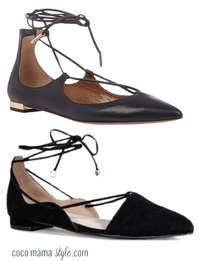 black flat lace ups | next shoes | aquazzura