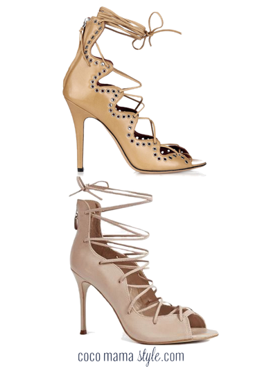nude lace up sandals | isabel marant | next | cocomamastyle