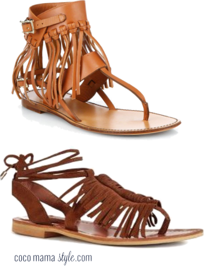 tan fringed sandals | valentino | next | cocomamastyle