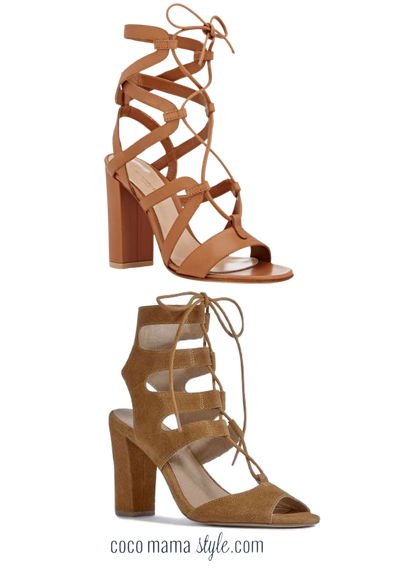 tan lace up sandals | gianvito rossi | next | cocomamastyle