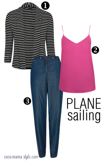 holiday style | capsule wardrobe |George ss15 Plane sailing flight look