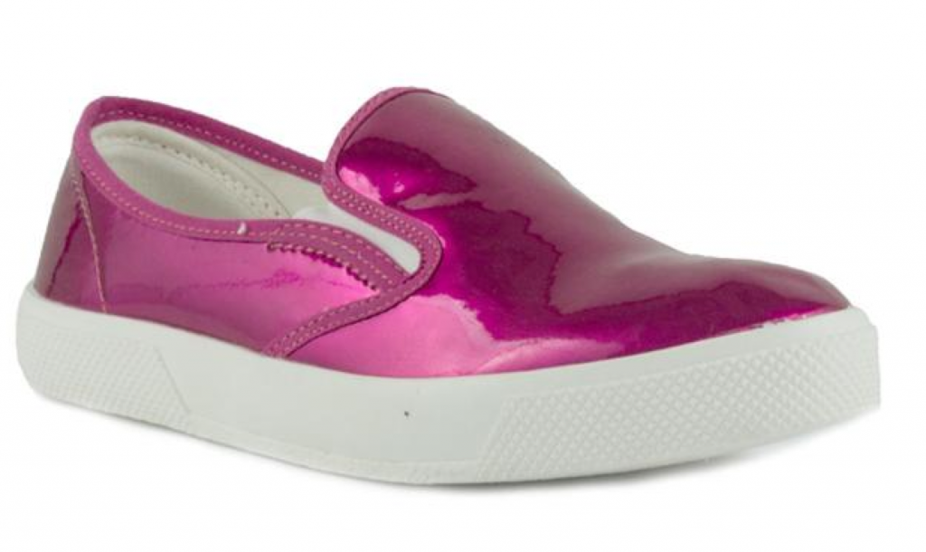 Truffle at shoezone pink metallic skater shoes