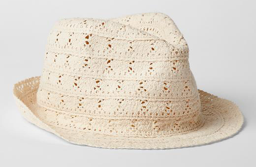 corchet girls sun hat fedora | cocomama