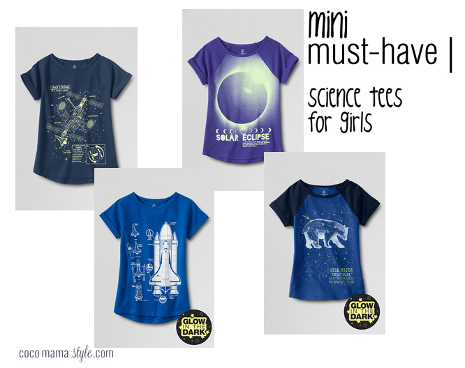 mini must have - science tees for girls