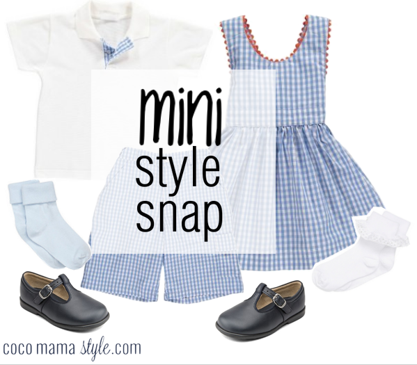 Mini Style Snap | gingham fit for royalty