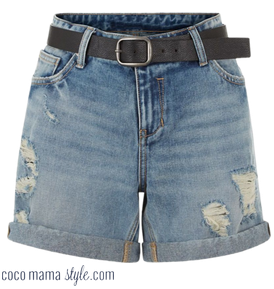 new look festival style cocomamastyle denim shorts
