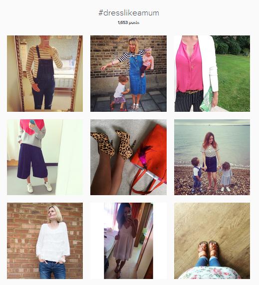 dresslikeamum hashtag screen grab