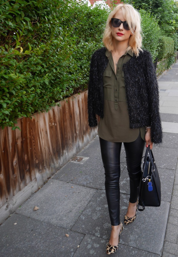 Outfit of the day | khaki and black evening look