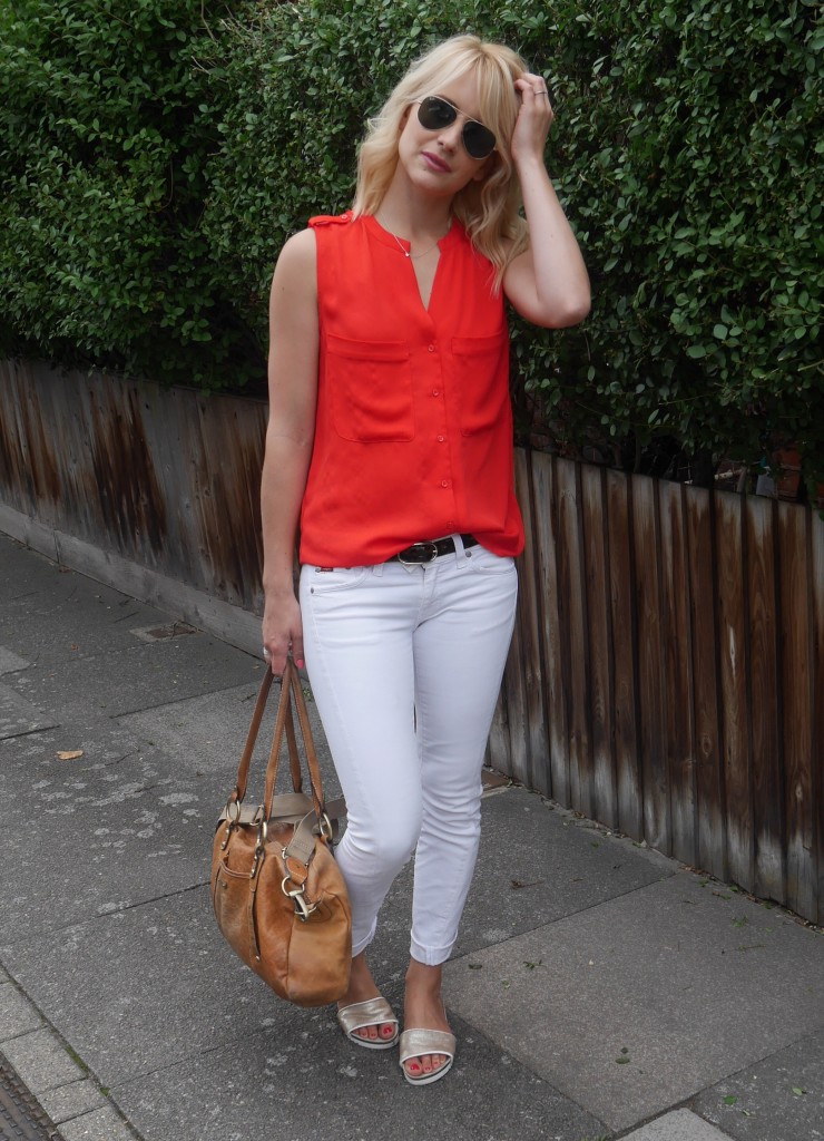 Outfit of the day | red and white