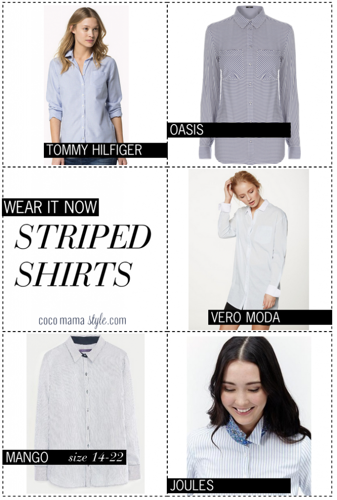 Wear it now | striped shirts