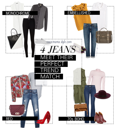 4 jeans and their perfect trend match - cocomamastyle - style tips