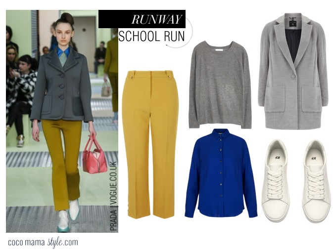 Cocomamastyle - runway to school run style - prada chic geek