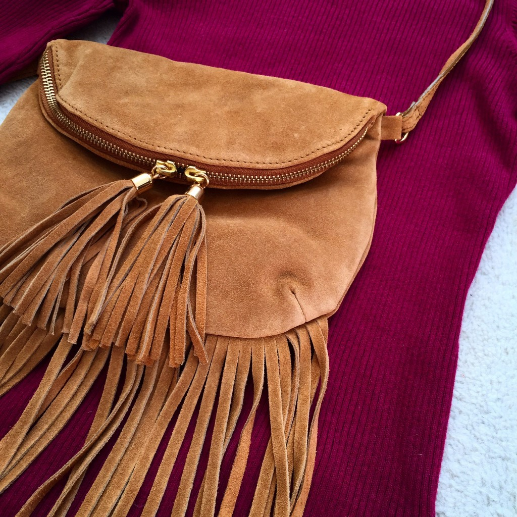 Quick fix style update | warehouse fringed suede bag | cocomamastyle