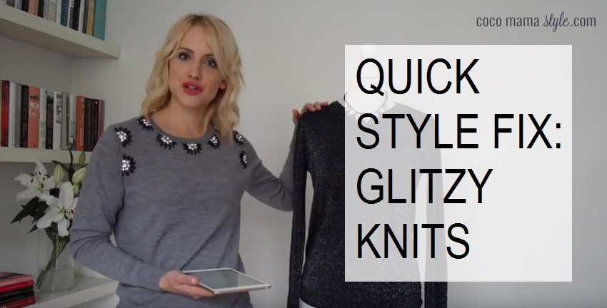 cocomamastyle quick style fix glitzy knits