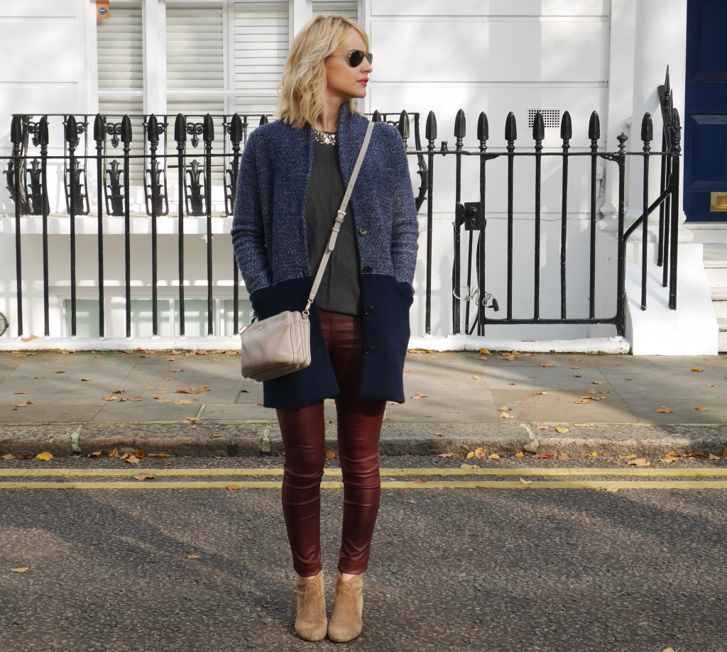 Outfit of the day | Coatigan and coated skinnies